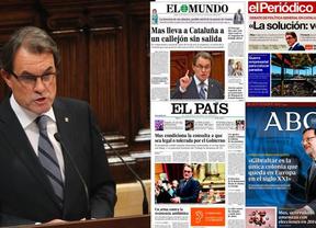 La prensa nacional estalla ante Artur Mas, el Empecinado, y su órdago soberanista para 2014