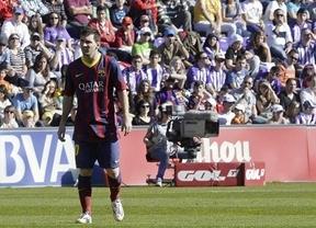 Un Barcelona sin el mago Iniesta y con un Messi apagado se suicida en Valladolid y entrega medio título (1-0)