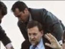 Cena privada de Rajoy con los ocupantes del helicóptero