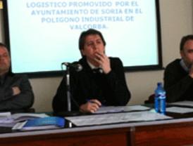 El alcalde de Soria presenta el Proyecto del Centro Logístico de Valcorba a los transportistas de Agrutranso