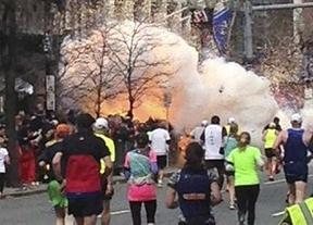 Dos explosivos junto a la meta de la maratón de Boston en el aniversario del trágico atentado