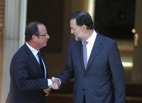 Rajoy y Hollande, juntos para ver el fútbol... y analizar el acuerdo sobre Chipre