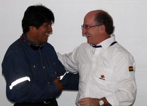 Antonio Brufau ratifica ante Evo Morales las inversiones de Repsol en Bolivia