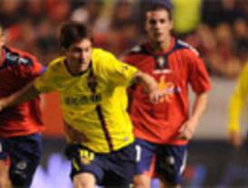 (0-3) El Barça llega tarde a Pamplona pero Messi sigue puntual en su cita con el gol por partida doble