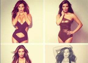Kim Kardashian, en bañador y en cueros... todo junto