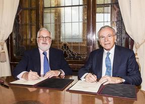 Isidro Fainé y Miguel Arias Cañete firman un acuerdo para potenciar la competitividad del sector agroalimentario