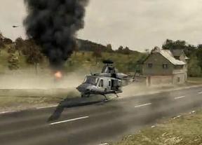 Imágenes de un videojuego para ilustrar una escena del IRA en TV