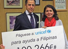 El Corte Inglés entrega 100.266 euros a UNICEF para Filipinas