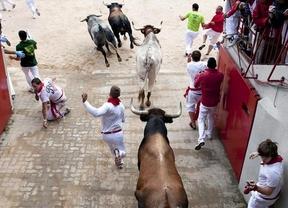 Sanfermines 2012: tres heridos por asta de toro en el tercer encierro