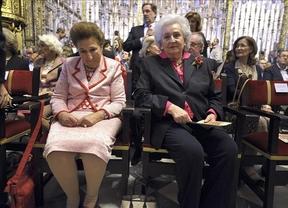 Las infantas Pilar y Margarita asisten a la última batalla de órganos en Toledo