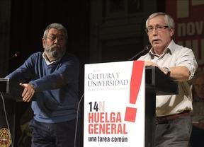 Toxo y Méndez animarán hoy en Toledo a participar en la huelga general