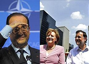 Europa juega una dura partida de ajedrez: Hollande contra Merkel; Rajoy está en el mismo barco que la alemana