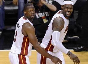 Miami, con Lebron y Chalmer de estrellas, alejan el sueño de Ibaka de ser campeón NBA (104-98)