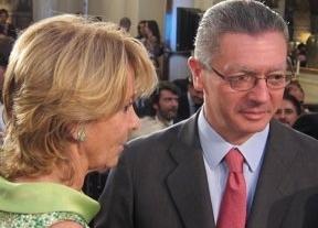 Gallardón cambiará la ley para evitar que políticos como Aguirre declaren por escrito