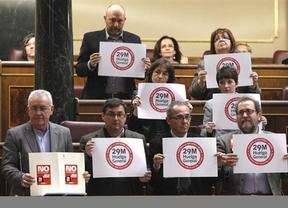 29-M en el Congreso: sólo los diputados de la izquierda real y una diputada del PSC harán huelga