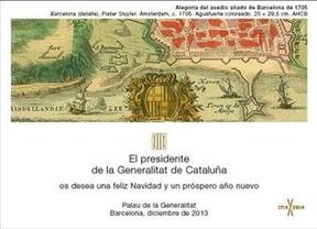 Artur Mas felicita las navidades con un 'christmas' que rememora el asedio a Barcelona de 1705
