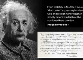 La 'carta sobre Dios' de Albert Einstein, a subasta