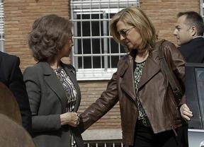 La Reina y las Infantas Elena y Cristina llegan a la clínica para seguir la operación de Don Juan Carlos