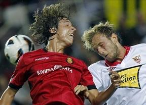 El Sevilla se aupa a la quinta plaza tras remontar a un débil Mallorca (3-2)
