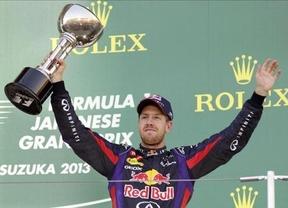 Vettel acaricia su cuarto mundial tras ganar en Japón con Fernando Alonso 4º