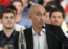 Luis Rubiales, el jefe de los futbolistas en la AFE, protagoniza los Desayunos Deportivos de Europa Press