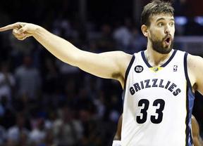 Marc Gasol se luce en una jornada llena de percances para los españoles en la NBA