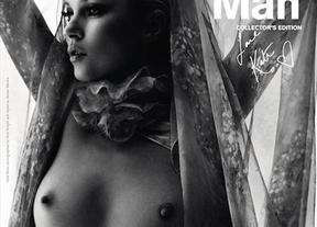 Kate Moss, desnuda en un posado para la revista 'Another Man'