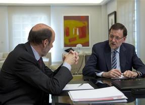 Termina la reunión entre Rajoy y Rubalcaba después de dos horas y media