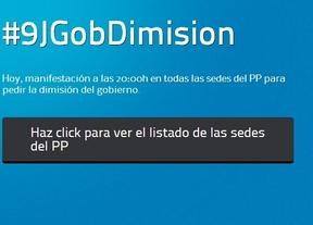 Una convocatoria a través de las redes sociales invita a concentrarse para pedir la dimisión de Rajoy