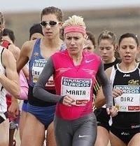 Marta Domínguez llega más de 2 minutos después de la keniata Masai en el Cross de Atapuerca