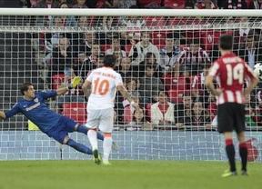 El Valencia hace historia: se lleva el primer empate forastero y liguero en el nuevo San Mamés (1-1)
