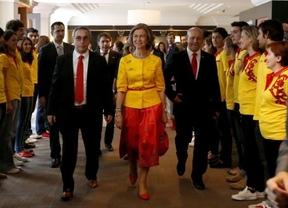 La reina, más olímpica que nunca, viste de Bosco