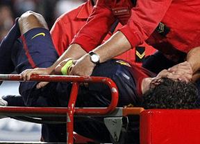 A mal tiempo, buena cara: Puyol, de baja mes y medio por su lesión, porque