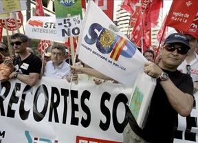 Este sábado son los policías los que se manifiestan contra los recortes en Madrid