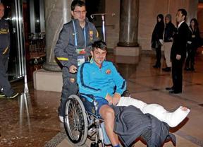 Villa se enfrenta ya a la operación en la tibia izquierda