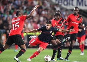 El Atlético despierta ante el Rennes a pesar del empate (1-1)