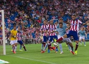 El Atlético gana a balón parado y acaba pidiendo la hora ante un Éibar valiente (2-1)