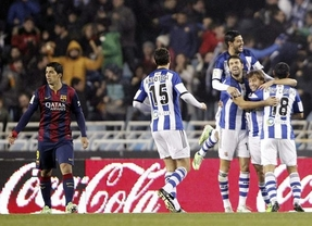 Nuevo petardo de Luis Enrique: el Barça cae en Anoeta y desaprovecha el tropiezo del Madrid (1-0)