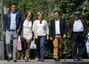 Valenciano da un mitin exprés con Madina en la mercería 'Punto y aparte', ¿augurio socialista?