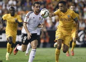 El Valencia cae ante un Málaga que revive