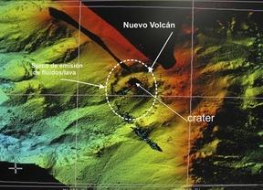 Localizan en El Hierro focos eruptivos y un edificio volcánico de 100 metros de altura