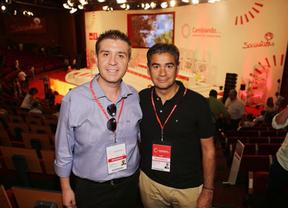 Cabañero (izq.) junto a Manuel González