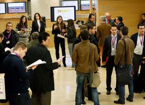 Emprendedores online en un evento