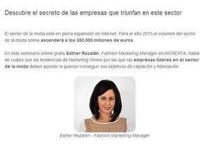 Esther Rozalén dirigirá el seminario online de moda