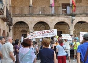 Vecinos de Pozancos protestan por unas obras que creen irregulares