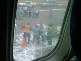 Avión de Venezolana perdió dos cauchos al intentar despegar