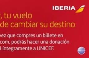 Iberia, pionera en el proyecto global de microdonativos junto con Amadeus y UNICEF