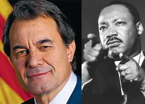 Artur Mas compara a los catalanes con la comunidad negra y la lucha de Martin Luther King
