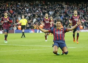 Alexis y Pedro hacen de Messi y Neymar en una nueva goleada del Barça ante el Elche (4-0)