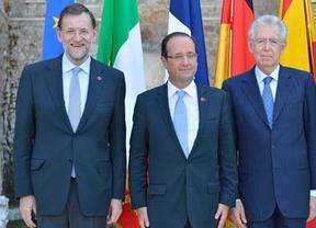 Reunión clave de Rajoy con Monti y Hollande siempre con la opción del rescate al fondo